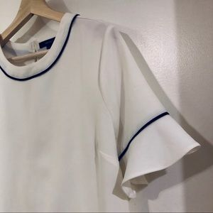 White Flare Sleeve Top